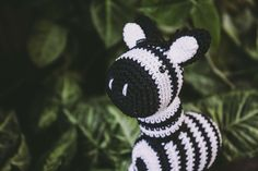 Zebra amigurumi plush - stuffed animals - ideal as gifts for kids and babies - present for baby shower - animal plush - kids room decor by NumiKnitStudio on Etsy