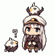 Question at the more Advanced Azur Lane Players in the Comments 8 Bits, Game Character, Character Design, Pixel Characters, Pixel Animation, Anime Pixel Art, Pixel Art Games, Kawaii Anime, Game Art