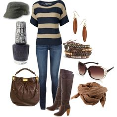 Without the hat and scarf, pretty much my go to daytime outfit