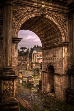 Arch of Septimius Severus - Roman Forum, Rome, Italy In the mid of October weather is wet while at the end of October it is cold here so you must have winter clothes along with you.