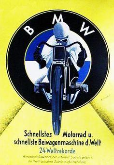 BMW-Werbung Bmw Motorbikes, Motos Bmw, Bmw Scrambler, Bmw Motorcycles, Vintage Motorcycles, Bike Poster, Motorcycle Posters, Motorcycle Bike, Vintage Advertising Posters