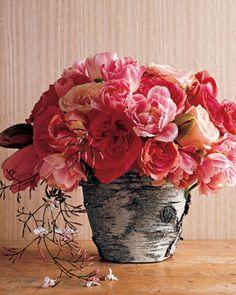 kreative ideen zum selbermachen, baumstumpf vase