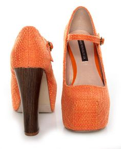 Orangey; if they had a skinnier heal i would be in love
