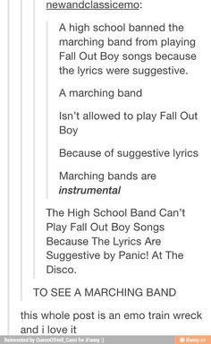 fall out boy and panic at the disco tumblr - Google Search
