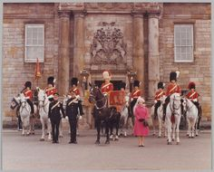 The Queen at The Royal Scots Dragoons Guards Tercentenary Parade, Edinburgh, 1978 Drum Major, Online Collections, British Army, Great Britain, Equestrian, Scotland, Military Uniforms, History, Queen Elizabeth