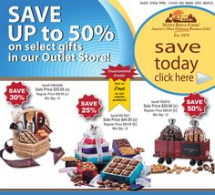 Save up to 50% on fresh & delicious gifts at the Maple Ridge outlet store from Maple Ridge Farms