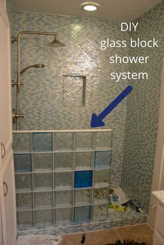 7 tips to choose the right glass block shower wall - Glass bricks designs walls ...