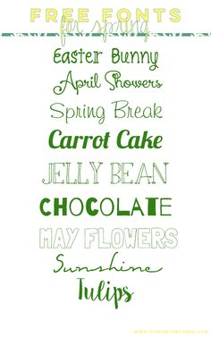 Free Fonts for Spring @ PinkOnTheCheek  ~~ {9 free fonts w/ easy download links}
