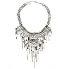 Buy Wholesale Antique Silver Coin Tassel Bib Necklace and other fashion jewelry necklaces in bulk.Wholesale trendy fashion jewelry for women and girls.