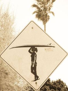 Surfer girl (a.k.a. coolest people ever) crossing