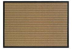 Upolu Outdoor Runner, Tan/Black on OneKingsLane.com, polypropylene, 8x11: $199, 5x7: $100