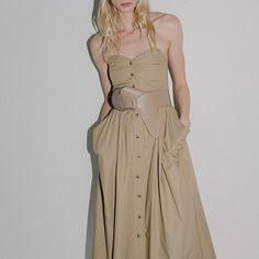 Spring style #strapless #belted #style #thedreslyn