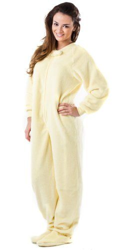 Footed Pajamas offer the best Footed Pajamas Warm and Sunny Adult Chenille - Medium. #pajamas #footed