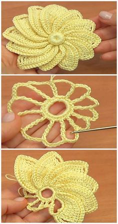 Crochet Beautiful Flower Motif - We Love CrochetYou can find Crocheted flowers and more on our website.Crochet Beautiful Flower Motif - We Love Crochet Crochet Flower Tutorial, Crochet Flowers, Crochet Motifs, Crochet Stitches, Love Crochet, Beautiful Crochet, Crochet Stars, Beautiful Flowers, Crochet Crafts