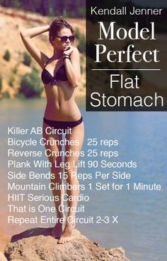 Kendall Jenner Ab Workout! Sexy Flat Stomach Workout!! She totally had to fight genetics, see how she does it…Girlfriend is training hard, running a business and building a brand! Check out the diet and secret drink she uses to stay lean!