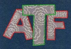 653 Terrific Blanket Stitch Applique Font - Jolson's Designs