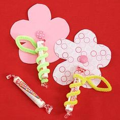 Paper Flowers with Candy