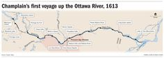 Champlain's first voyage up the Ottawa River, 1613