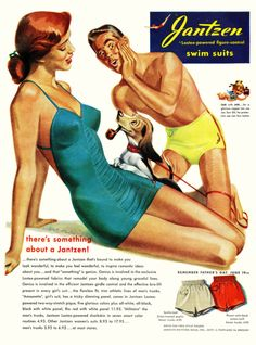 1949 Pete Hawley pinup pin-up girl art Jantzen women's swimsuit vintage print ad Vintage Advertisements, Vintage Ads, Vintage Prints, Poster Vintage, Vintage Style, Images Vintage, Baby Boomer, Vintage Swimsuits, Old Ads