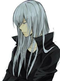 Resultado de imagem para long white haired anime boy