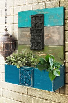 These vintage items are handcrafted, hand-painted and one of a kind treasures, so they may have slight imperfections that add to the beauty and charm of these handmade creations.  #wallplanter #woodenplanter #homegarden #garden #urbangarden #homegardening #plants #mygarden #growyourown #homedecor #homegrown #houseplants #shabbychic #homedecorideas Indian Home Interior, Indian Interiors, Indian Home Decor, Home Decor Furniture, Diy Home Decor, Water Wall Fountain, Indian Bedroom Decor, Antique Wall Decor, Home Entrance Decor