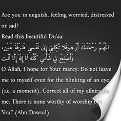 #Islamic quotes #worry #depressed #sad #dua #prayer