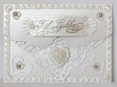 White on white, envelope card