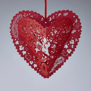 Lacey Paper Heart Lantern
