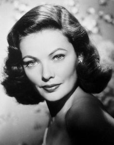 The lovely Gene Tierney.  It's difficult to find a picture of her smiling because she had unapproved buck teeth that she refused to have fixed.