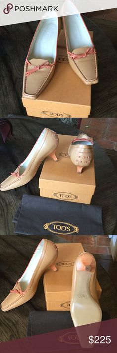 Selling this Tod's kitten heel driver. Brand new, never worn. on Poshmark! My username is: njbatts. #shopmycloset #poshmark #fashion #shopping #style #forsale #Tod's #Shoes