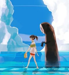 Kanji & I are going to be these two. I'll be Chihiro and he'll be No Face.