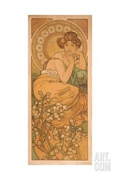 Topaz (From the Series the Gem) Giclee Print by Alphonse Mucha at Art.com
