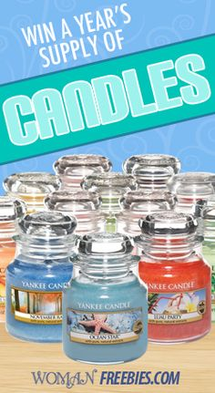 Win A Year's Supply Of Yankee Candles  4-30-14