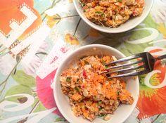 Salade composée bio. Salade de carottes bio.