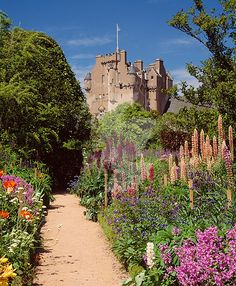 Crathes Castle, Aberdeenshire, Scotland. Built in the 16th century by the Burnetts of Leys and was held in that family for almost 400 years. Sometimes know as the Enchanted Castle. Open to the public