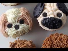 DIY DOG CUPCAKES - Pug, Pomeranian, Golden Retriever, Shih Tzu, Labradoodle & Poodle   RECIPE - YouTube