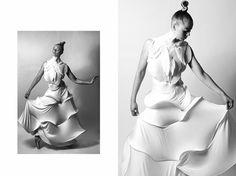 Christina Eekhoff #fahmoda #couture #white #pure pierre heinemann