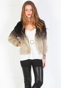 S22 Ombre Fur Jacket
