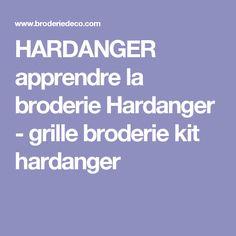 HARDANGER apprendre la broderie Hardanger - grille broderie kit hardanger