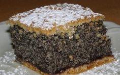 Ahogy a neve is elárulja, ez a mákos süti tényleg egy csoda! Hungarian Desserts, Hungarian Cake, Hungarian Recipes, Cookie Recipes, Dessert Recipes, Czech Recipes, Croatian Recipes, Sweet And Salty, Homemade Cakes