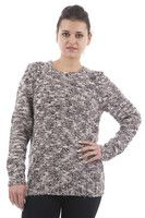 New Listing Started Chunky Knit Flecked Round Neck Jumper £10.99