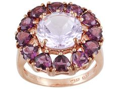 Stratify(Tm) 6.54ctw Rose De France Amethyst