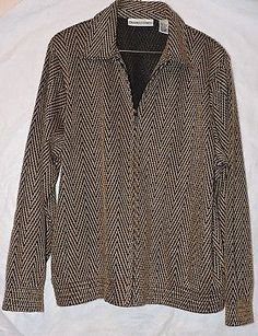 Draper's & Damon's Gold Sparkly Jacket Large