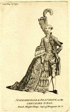 Mme. de Chavalier D'Eon; satirical print