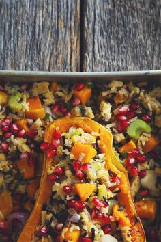 Stuffed Butternut Squash with Tempeh + Eat Clean Live Well Giveaway… Clean Recipes, Whole Food Recipes, Cooking Recipes, Vegan Foods, Vegan Dishes, Clean Eating, Healthy Eating, Vegetarian Recipes, Healthy Recipes