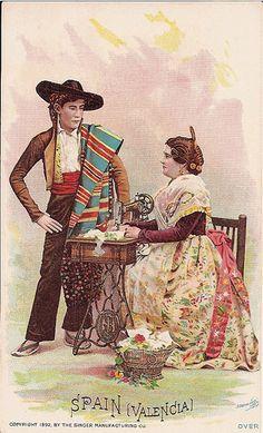Singer Sewing Machine trade card c. 1892 by bjebie, via Flickr