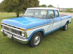 1976 F250 Ford Supercab. Mine was navy blue and white with a 390 coup 4 barrel carb.
