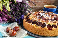 Szybkie ciasto ze śliwkami i jabłkami Apple Cake, Cheesecake, Food, Bakken, Cheesecakes, Essen, Meals, Yemek, Cherry Cheesecake Shooters