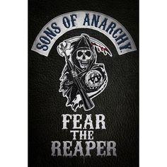 """Poster verticale """"Fear The Reaper"""" della celebre serie televisiva #SonsOfAnarchy. Dimensioni: 61 x 91,5 cm."""