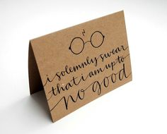 Harry Potter Greeting Card with Handwritten by sparrownestscript, $8.00